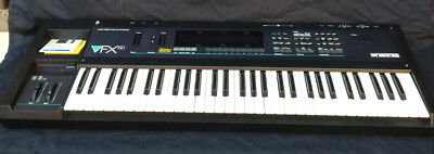 Ensoniq VFX-SD Production Synthesizer Sequence Editing with drums & 24bit effect