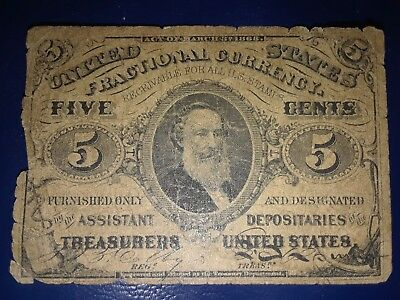 1863 5 Cents Fractional Currency   No Reserve