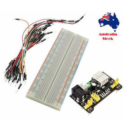 Solderless Breadboard 400 Point Arduino Raspberry Pi +Power module + 65 cable