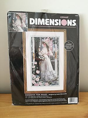 Dimensions Crewel Kit - Romance For Roses