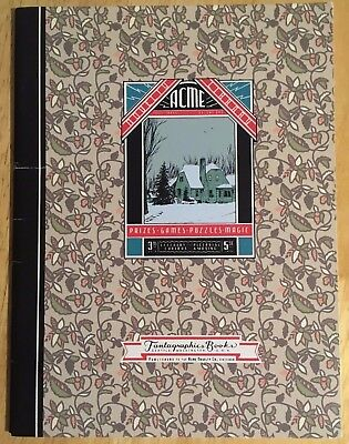 Library Of Novelty Prizes Games Puzzles Magic Issue # 3 Acme Fantagraphics Comic