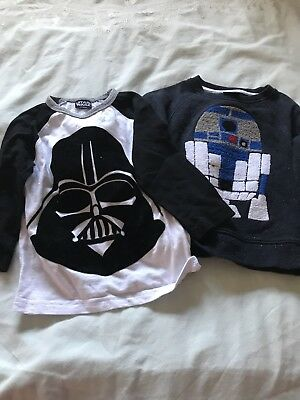 Two Next Star Wars Tops, 12-18 Months