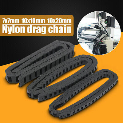 Black Nylon Energy Chain Drag Cable Towline Carrier Wire For CNC Router Mill