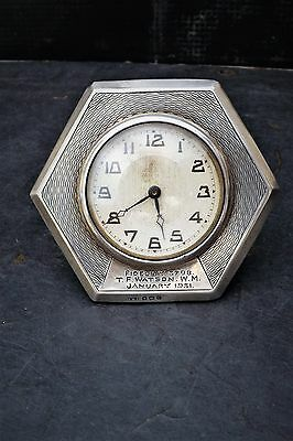 Solid silver clock