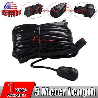 40A 12V Wiring Harness Kit with Toggle Switch Relay Connect LED Work light Bar