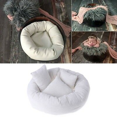 4Pcs Baby Newborn Photography Pillow Basket Filler Wheat Donut Posing Photo Prop