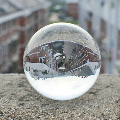 30mm-60mm Clear Round Glass Artificial Crystal Healing Ball home new HOT