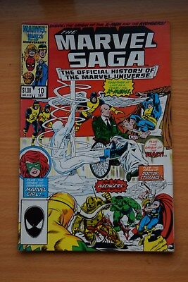 "THE MARVEL SAGA ""The Official History of the Marvel Univers - No 10 Date 09/1986"