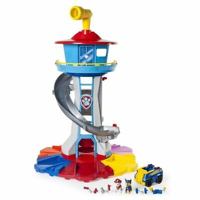 Paw Patrol My Size Lookout Tower Playset Vehicle Rotating Periscope Lights Sound