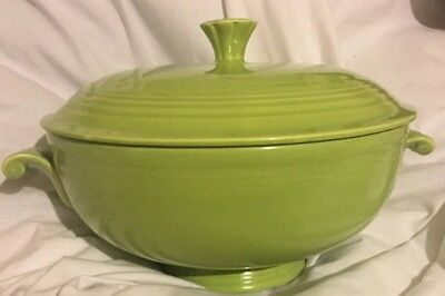 Vintage Fiesta Covered Casserole Chartreuse Bowl