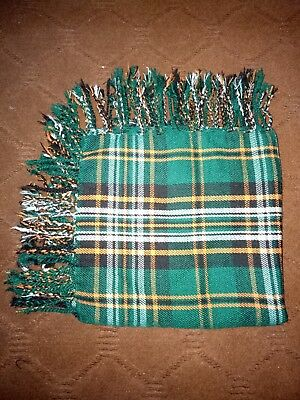 Tartan Scottish Purled Fringe Budget Piper Fly Plaid Kilt Heritage Of Ireland
