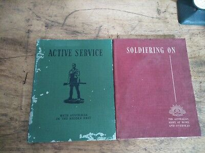 2 Vintage War Books Active Service and Soldiering On