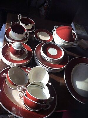 susie cooper dinner service used with crazing