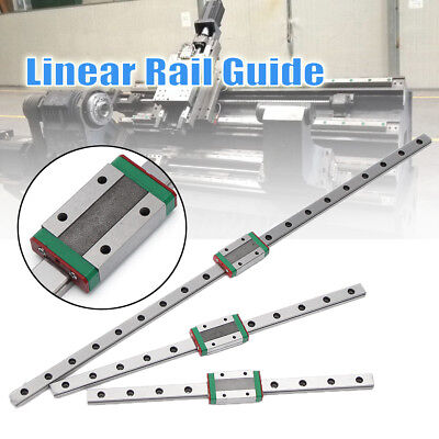 500/300/200mm MGN7 Miniature Rail Guide Linear Slider + Sliding Block CNC Tool