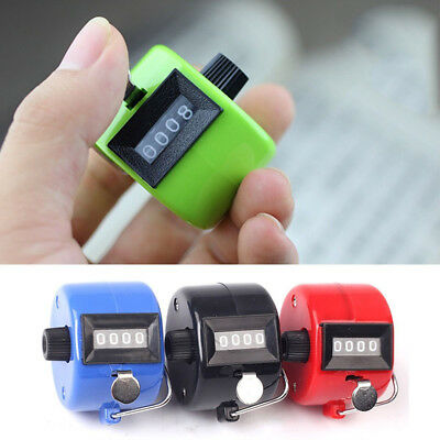 1PC 4 Digit Mechanical Manual Golf Clicker Handheld Tally Counter Count Number