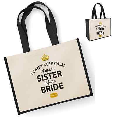 Sister Of The Bride Gift Idea Wedding Party Bridal Bag Hen Party Present