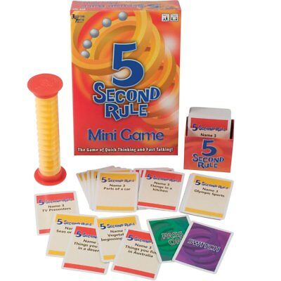 5 Second Rule Mini Game The Game Of Quick Thinking And Fast Talking Xmas Gift