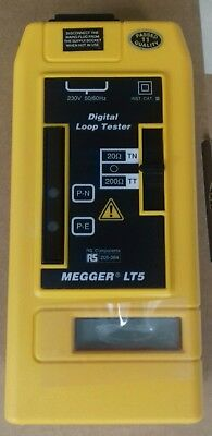 New MeggerLT5 Digital Loop tester complete with case and leads