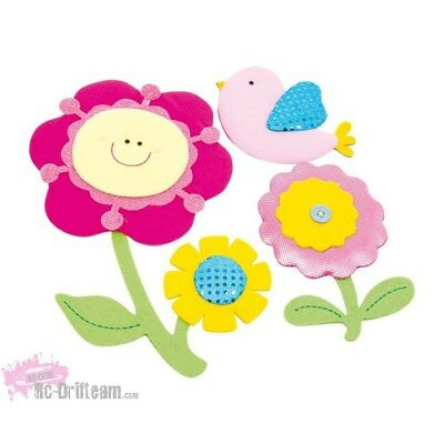 Vinilos Decorativos Flores y Pajarito. Art Decals Kids Wall Stickers Mural