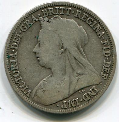 1896 Solid Sterling Silver Vintage Retro Queen Victoria Shilling Great Britain