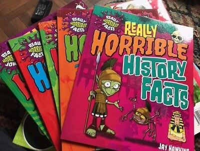 Really Horrible Facts set of 5 books Jay Hawkins brand new