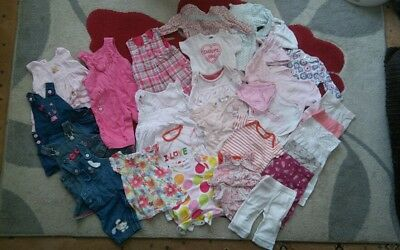 Baby girls clothes bundle job lot 0-3 months 31 items