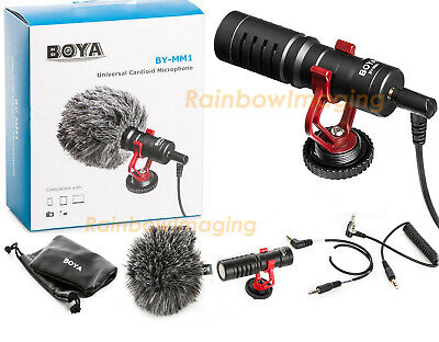 BOYA BY-MM1 Cardiod Shotgun Microphone for Canon 760D 750D 700D 80D 70D 7D II