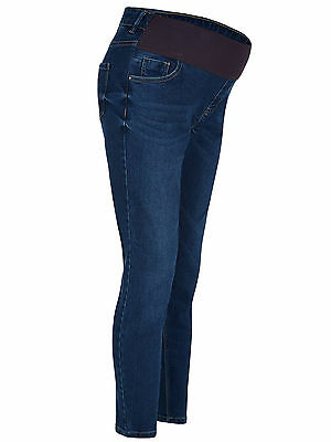 New Look (ex) Maternity Indigo Blue Under Bump Skinny Jeans Jeggings Size 18 30""