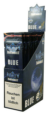 1 Box (25x2) Juicy Jay's Double Blunts BLUE aromatisiert flavoured