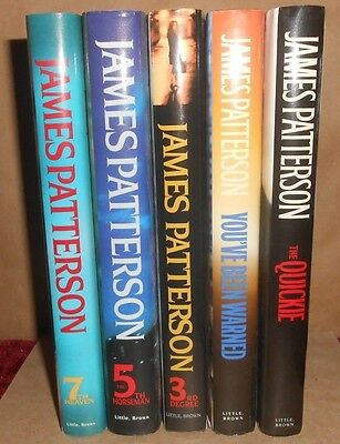 5 - James Patterson Books - 3Rd Degree, 5Th Horseman, 7Th Heaven,  Quickie