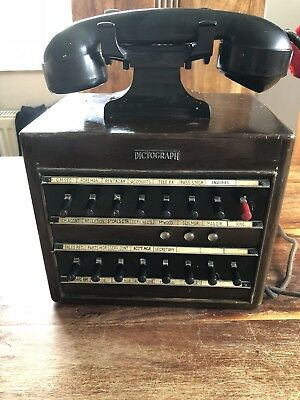 Dictograph vintage with baker lite