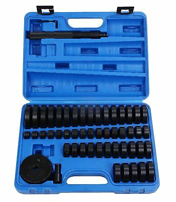 52Pc Custom Bushing Bearing Seal Driver Push Press Disc Tool Set 18-65mm US Ship