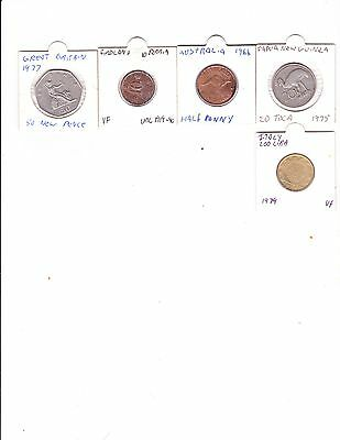 5 pre loved Coins for sale (Lot 1)
