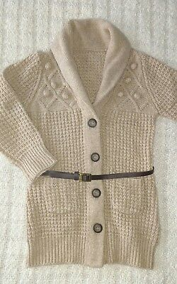 Mothercare 18-24months girls long cardigan with belt. New