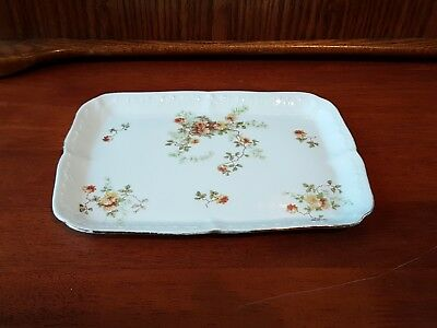 G.D.& C ie Limoges France Tray Vintage 1890-1910 Floral Antique Rare