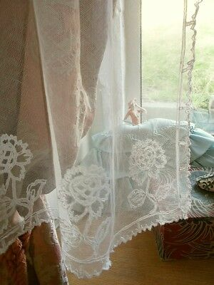 Antique Lace Panel, Small Curtain