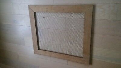 Large Old Oak Handmade Shabby Chic Vintage Picture Frame/PegBoard 64cm x 74cm
