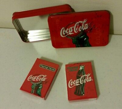 Coca-Cola Playing Cards with Collectable Tin