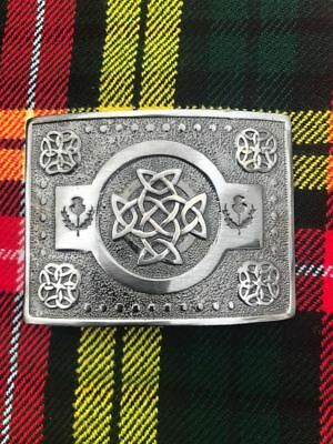 Scottish Kilt Belt Buckle Thistle Crest Antique Finish/Kilt Belt Buckle/kilt