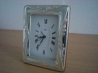SOLID STERLING SILVER TABLE ALARM CLOCK 9×13*952GB new