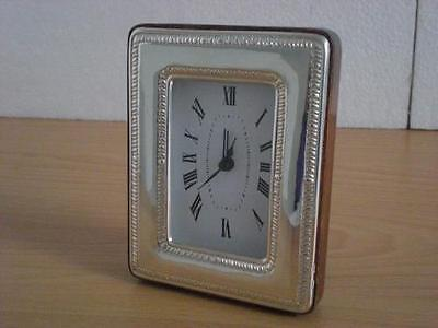 SOLID STERLING SILVER TABLE ALARM CLOCK 6×9 *1011GB new