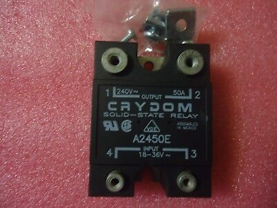 NEW A2450E 50A, 240V , 18-36Vac  CONTROL, CRYDOM SOLID STATE RELAY RELAYS