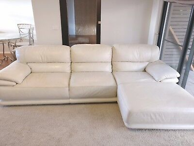 Leather 3 Seater Corner Modular Lounges with Chaise Sofas Suites Couches