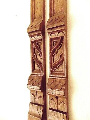 Gothic Revival Church Tracery Carved Oak Details