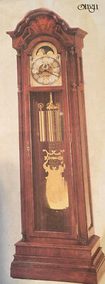 Charles Sligh Grandfather Clock # 0808-2-AN 16 Hammer Cable Wound Triple Chime