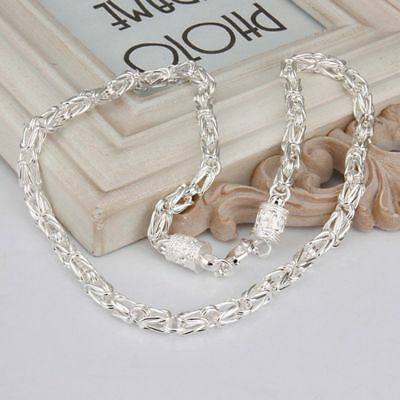 Hot 925Sterling Solid Silver Jewelry Dragon Chain Necklace For Women Men N061