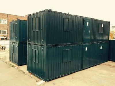 32ft x 10ft ANTI-VANDAL OPEN PLAN OFFICE CONTAINER - ROCHDALE!!