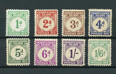 Gilbert & Ellice Islands 1940 Postage Due set SGD1/8 MNH/MM - see desc