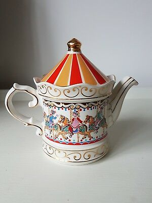 Vintage Sadler carousel Edwardian Entertainments tea pot - unused condition