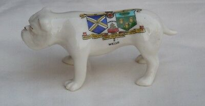 Large Crested China Bulldog Crest For Wells